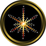Abstract holiday star button. For your design Stock Images