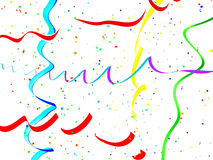 Abstract holiday streamer background Royalty Free Stock Images