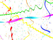 Abstract holiday streamer background Stock Photo