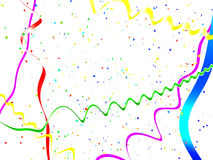 Abstract holiday streamer background Stock Images