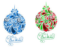 Abstract holidays balls in floral Royalty Free Stock Photos