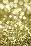 Abstract holidays brass lights on background - vertical Stock Photography