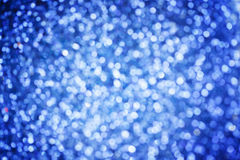 Abstract Holidays Christmas light bokeh background,Blue Color. H Royalty Free Stock Photos