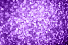Abstract Holidays Christmas light bokeh background, Purple Color Royalty Free Stock Images