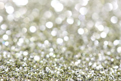 Abstract holidays silver and brass light on background. Horizontal Stock Photography