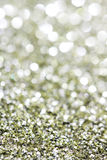 Abstract holidays silver and brass light on background Stock Photos