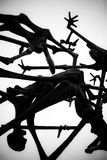 Abstract Holocuaust Sculpture - Dachau royalty free stock images