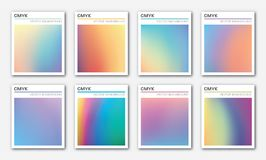 Abstract holographic foil vector backgrounds. Royalty Free Stock Image