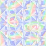 Abstract Holographic Geometric Seamless Pattern. Vector abstract holographic geometric seamless pattern. Fashion rainbow pastel background for cover, posters Royalty Free Stock Photos