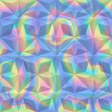 Abstract Holographic Geometric Seamless Pattern. Vector abstract holographic geometric seamless pattern. Fashion rainbow neon background for cover, posters Stock Photo
