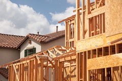 Abstract Home Construction Site Stock Image