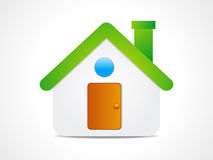 Abstract home icon Royalty Free Stock Image