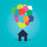 Abstract home minds. This picture show, that every home has its own minds royalty free illustration