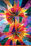 Abstract Homemade Quilt. A bright home made quilt pattern Royalty Free Stock Image