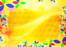Abstract honey background. An illustration: abstract honey background Stock Photo