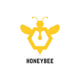 Abstract honey bee sign. Concept of visual identity, promotion, syrup, liquid sweetness, honeyed nectar. isolated on white background. flat style trend modern vector illustration