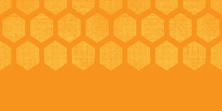 Abstract honey yellow honeycomb fabric textured horizontal seamless pattern background Stock Photography