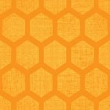 Abstract honey yellow honeycomb fabric textured seamless pattern background Royalty Free Stock Image