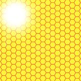 Abstract honeycomb background.  blurry light Royalty Free Stock Image