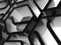 Abstract honeycomb background, 3d art. Abstract honeycomb background, 3d render illustration Royalty Free Stock Image