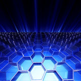 Abstract honeycomb background. 3D illustration Royalty Free Stock Image