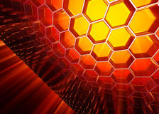 Abstract honeycomb background. 3D illustration Royalty Free Stock Photos