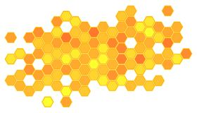 Abstract honeycomb background Royalty Free Stock Photos