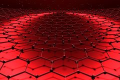 Abstract honeycomb background. Perspective view on honeycomb. Hexagon pattern background. Isometric geometry. 3D rendering Stock Images