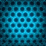 Abstract honeycomb background. Perspective view on honeycomb. Hexagon pattern background. Isometric geometry. 3D rendering Royalty Free Stock Image