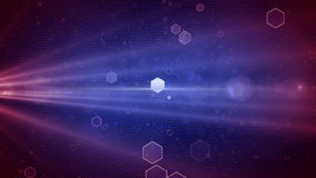 Abstract Honeycomb background Red - Blue stock video footage