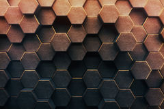Abstract honeycomb background. /wallpaper. 3D Rendering Royalty Free Stock Photography