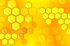Abstract Honeycomb Composition. Raster background or texture royalty free illustration