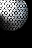 Abstract honeycomb mesh with sphere light Stock Photo