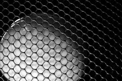 Abstract honeycomb mesh with sphere light Stock Photos