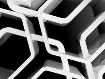 Abstract honeycomb ornamental 3d art. Abstract honeycomb ornamental background, 3d render illustration Stock Photo