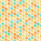Abstract honeycomb seamless pattern with grunge effect Royalty Free Stock Photography