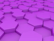 Abstract honeycombs. Abstract 3d purple honeycomb background stock illustration