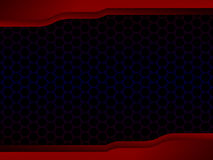 Abstract Honingraat zwart Ontwerp met Rood kader, Concept Backgrou Stock Foto