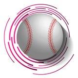 Abstract honkbalbeeld met bal in 3d effect royalty-vrije illustratie