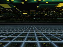 Abstract Horizon Grid Perspective Royalty Free Stock Photography