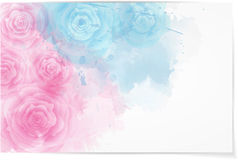 Abstract horizontal background with roses Stock Image