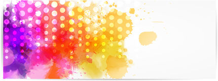 Abstract horizontal banner with modern design Stock Photography