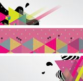 Abstract horizontal banners Stock Image