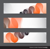Abstract horizontal banners  with black and orange motives Stock Images