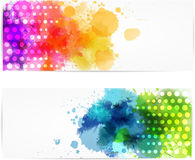 Abstract horizontal banners with modern design Stock Photography