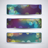Abstract horizontal banners set Stock Photo