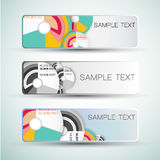 Abstract horizontal banners set Royalty Free Stock Photo