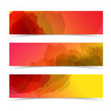 Abstract horizontal banners set Stock Photography
