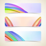 Abstract horizontal banners set Stock Image