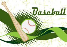 Abstract horizontal baseball banner Royalty Free Stock Photography
